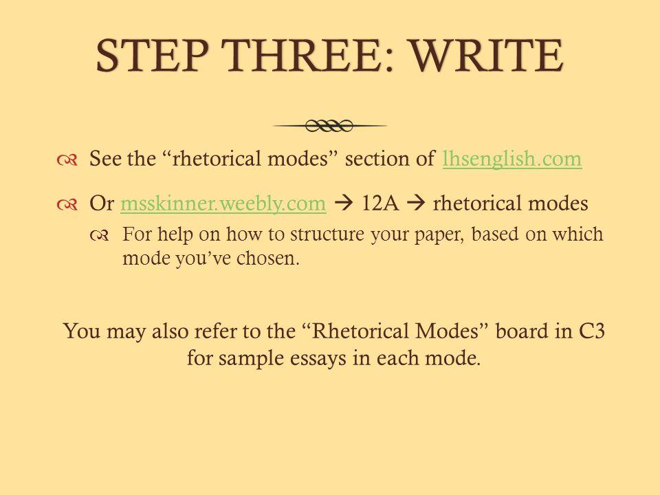 Description rhetorical mode essay examples