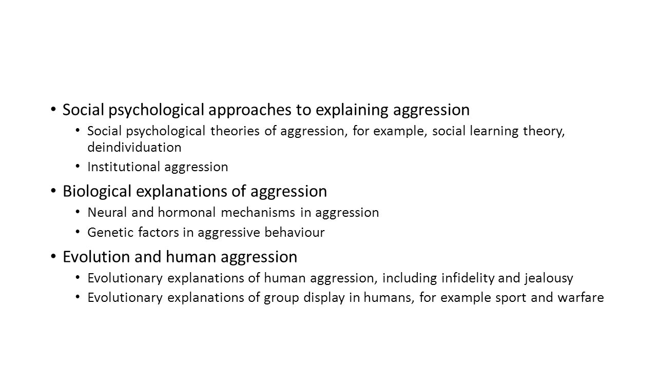 psychology institutional aggression essay