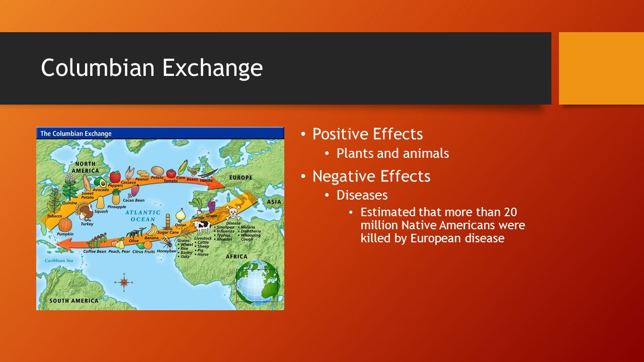 positive and negative effects of the columbian exchange The columbian exchange and global trade recognizing effects use • columbian exchange • capitalism comparing what were some of the positive and negative.