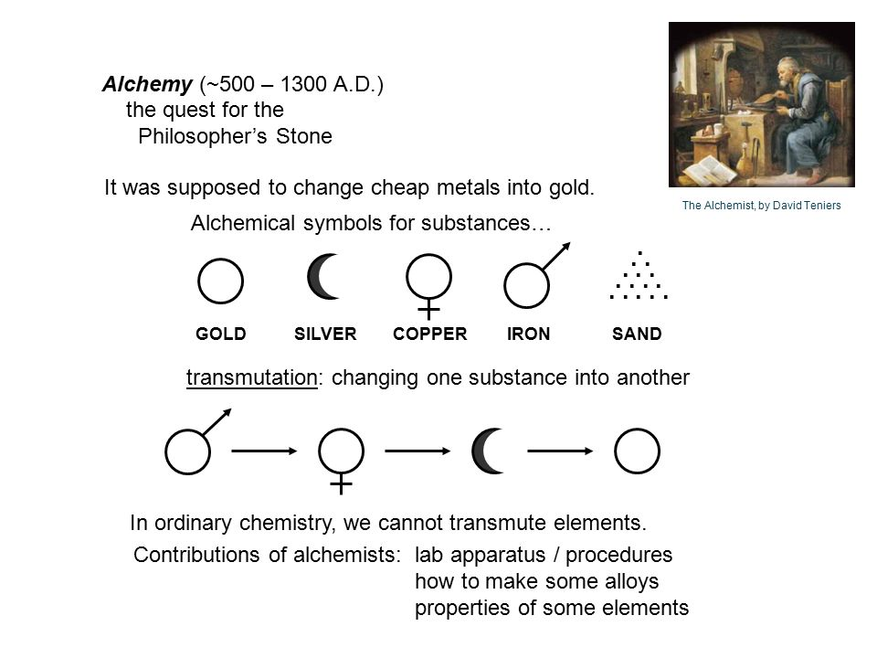 alchemy to chemistry Many books about alchemy were written this medieval handwritten and hand-illuminated book was a forerunner to the modern chemistry text.