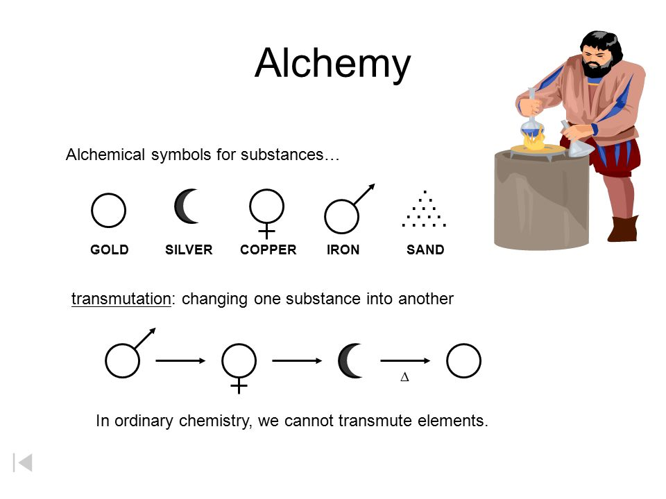 Alchemy Alchemical symbols for substances… . . . . . . . . . . . . . . . GOLD. SILVER. COPPER.