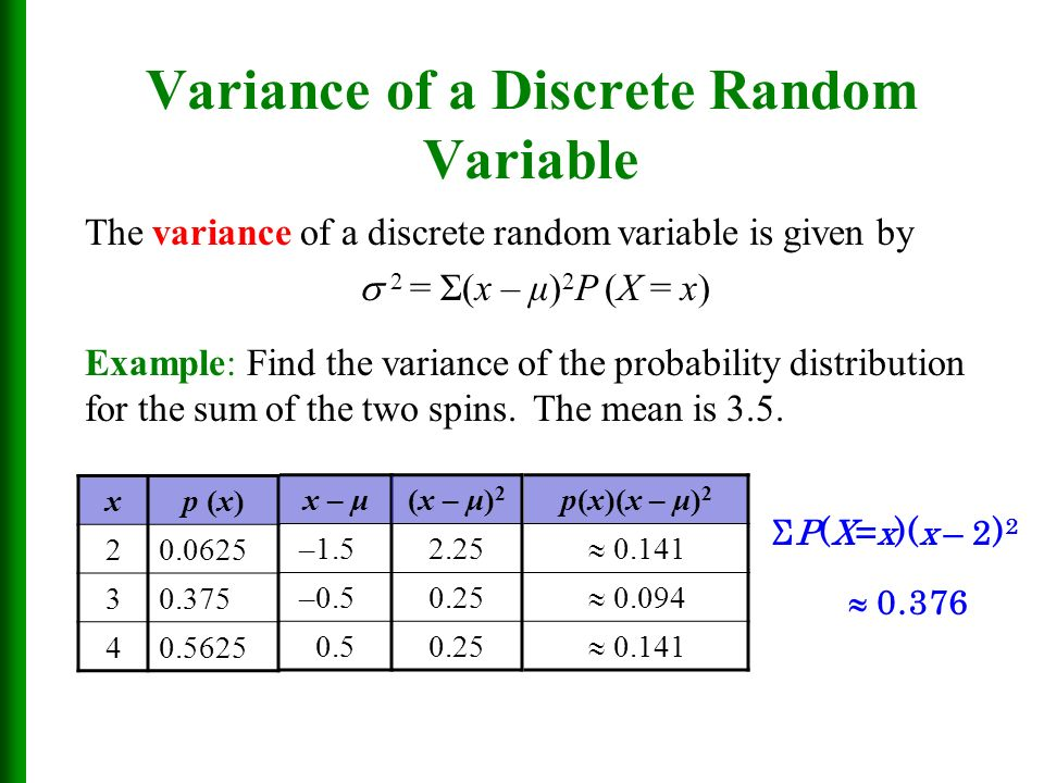 discrete random variable Note: the shaded area in the graph represents the probability that the random variable x is less than or equal to a this is a cumulative probability.