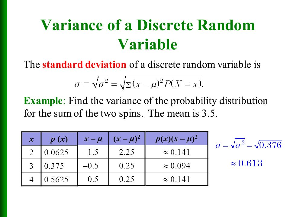 discrete random variables Discrete random variables stat 110a, ucla, ivo dinov slide 8 probability  distribution the probability distribution or probability mass function (pmf) of a.
