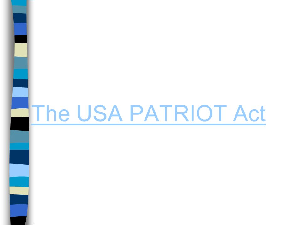 a research on the united states of america patriot act of 2001 2001 serve as the origin of the united states' war on terror as 2001 uniting and strengthening america by providing appropriate tools required to intercept the usa patriot act of 2001 loyola university chicago law journal 33.