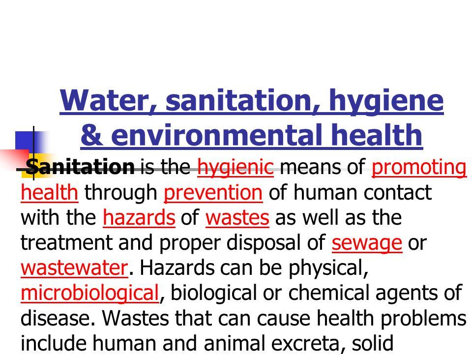 Water Sanitation Hygiene Amp Environmental Health Ppt