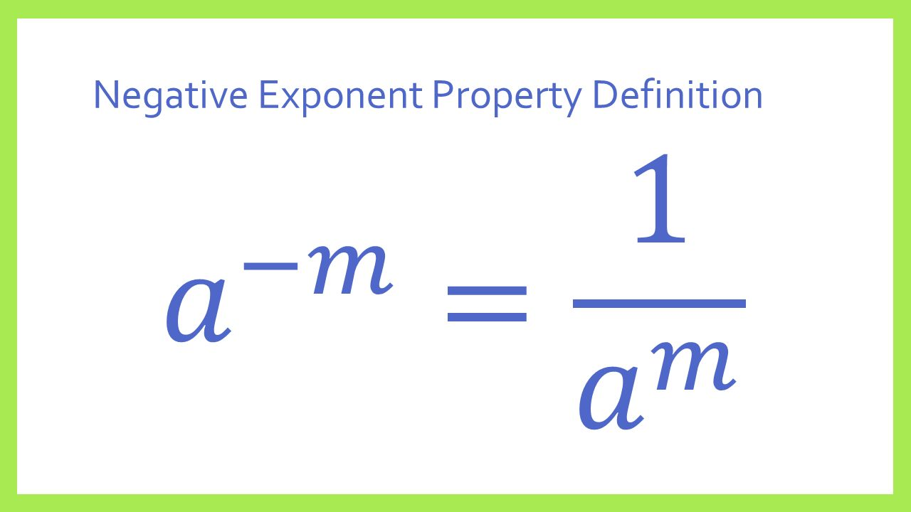 Negative Exponent Property Definition