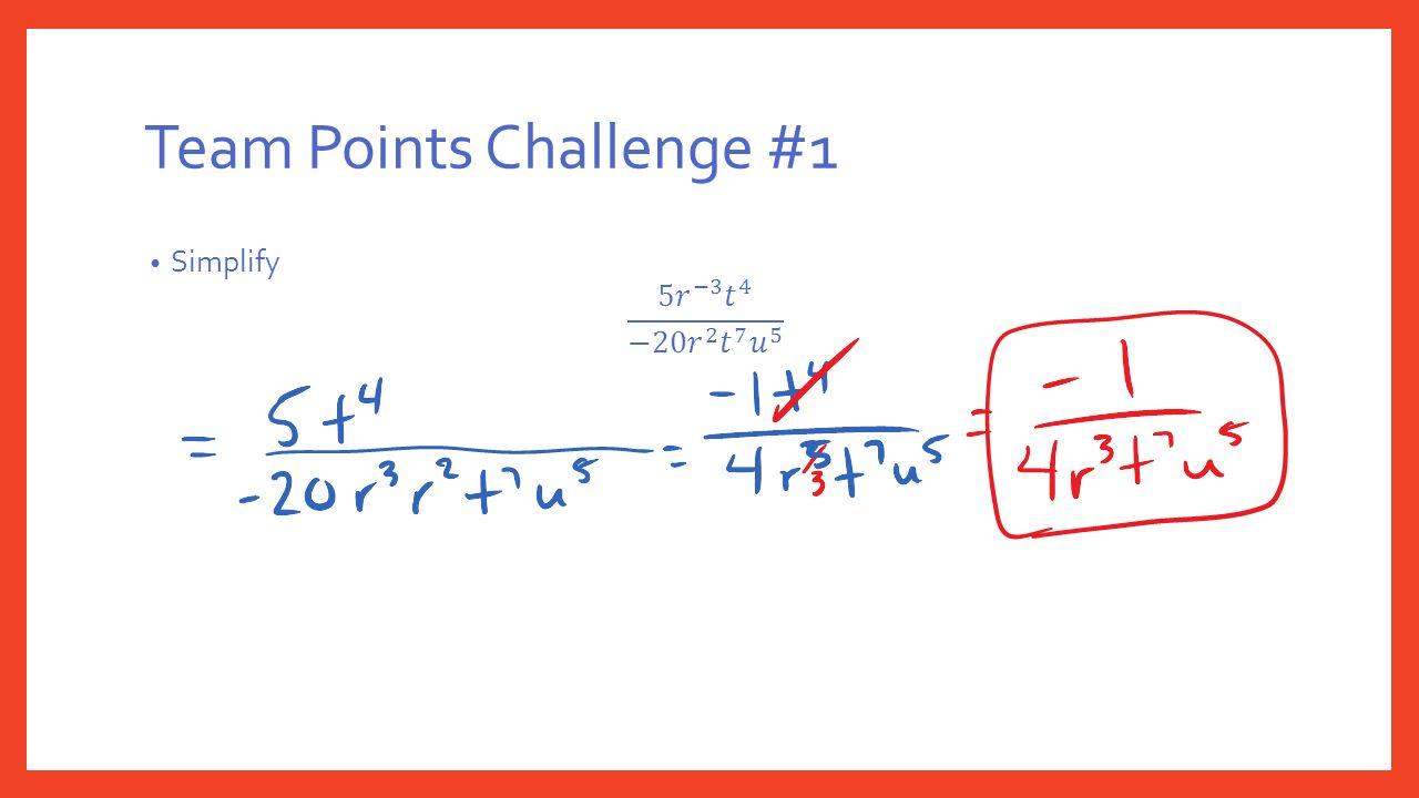 Team Points Challenge #1