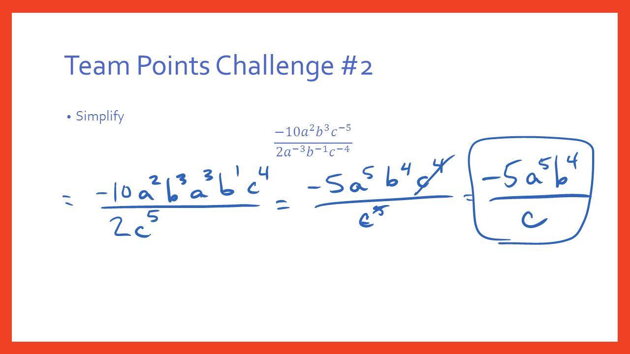 Team Points Challenge #2