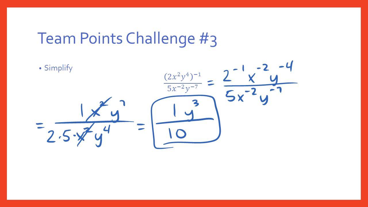 Team Points Challenge #3