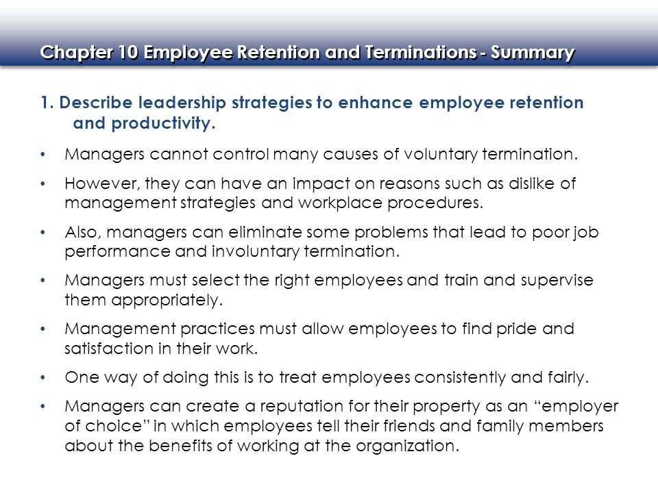Impact of employee retention