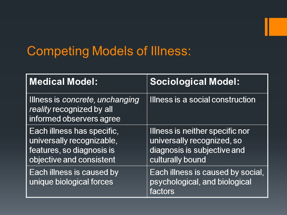 social construction of illness Constructions of masculinity and their influence on men's well health and the social construction of gender power and the social construction of the.