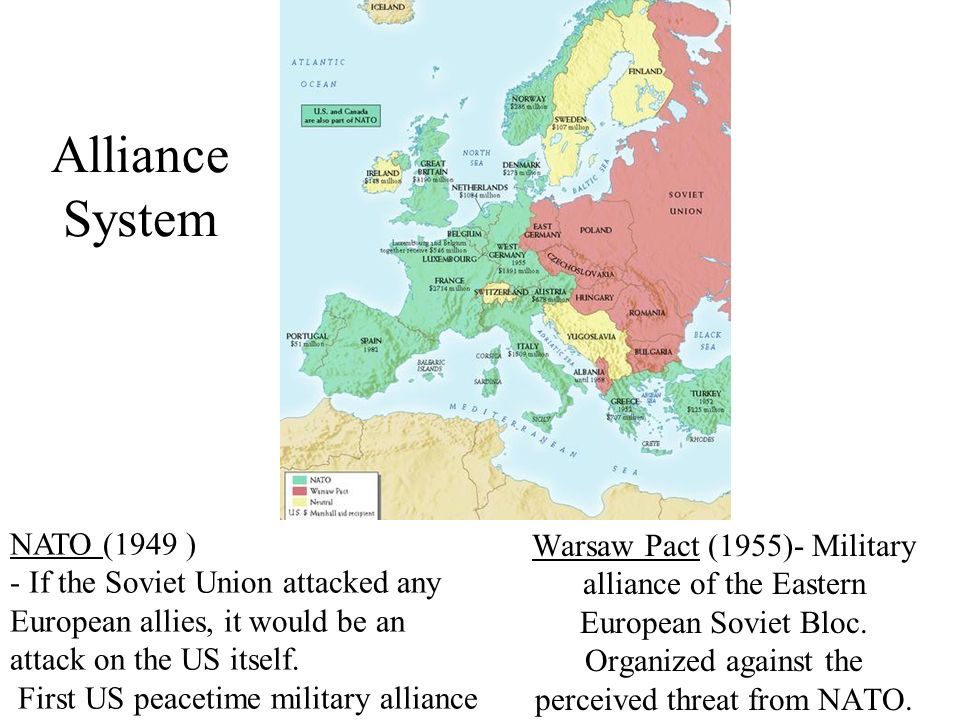 Cold War Intro Map Docs Ppt Video Online Download - Us military allies map