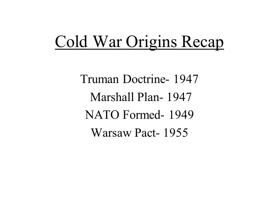an introduction to the importance of the truman doctrine The truman doctrine was the name given to a policy announced by us  president harry trumanon march 12th, 1947 the truman doctrine.