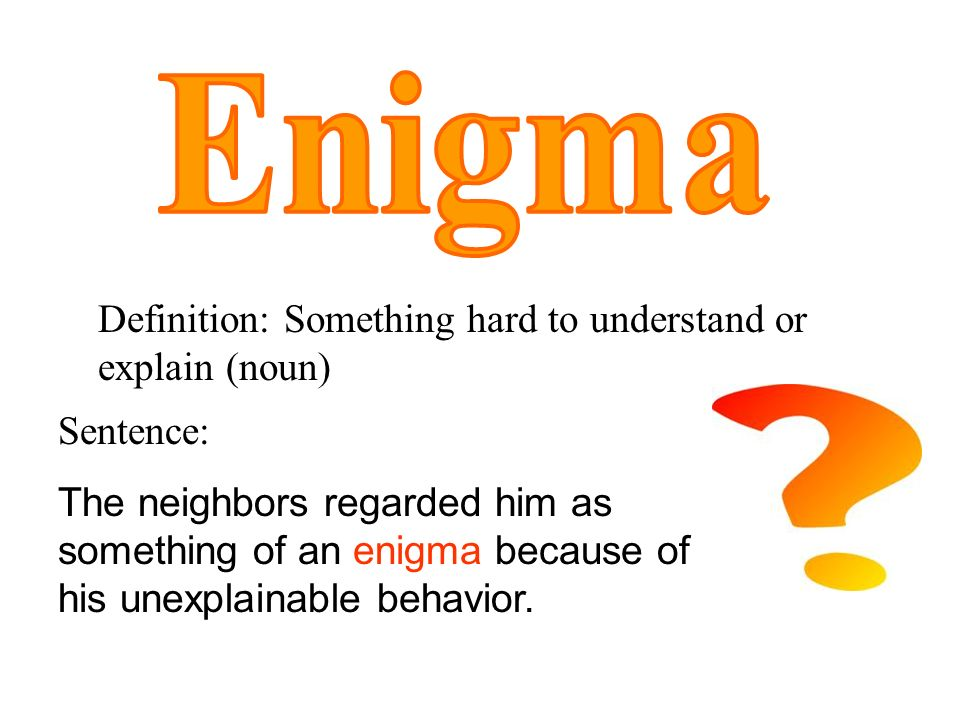 middle school word of the week ppt video online  5 enigma