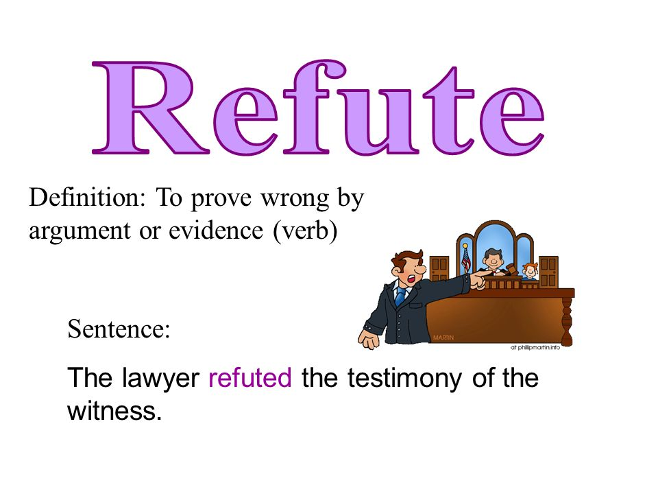how to use refute in a sentence