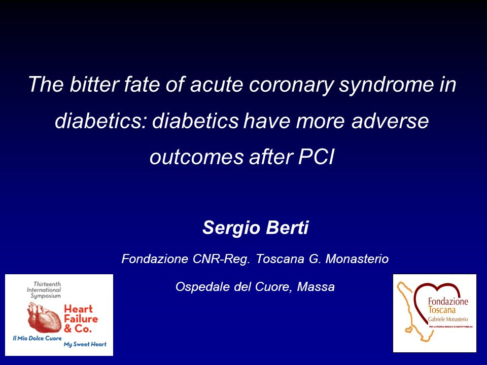 The bitter fate of acute coronary syndrome in diabetics: diabetics have more adverse outcomes after PCI