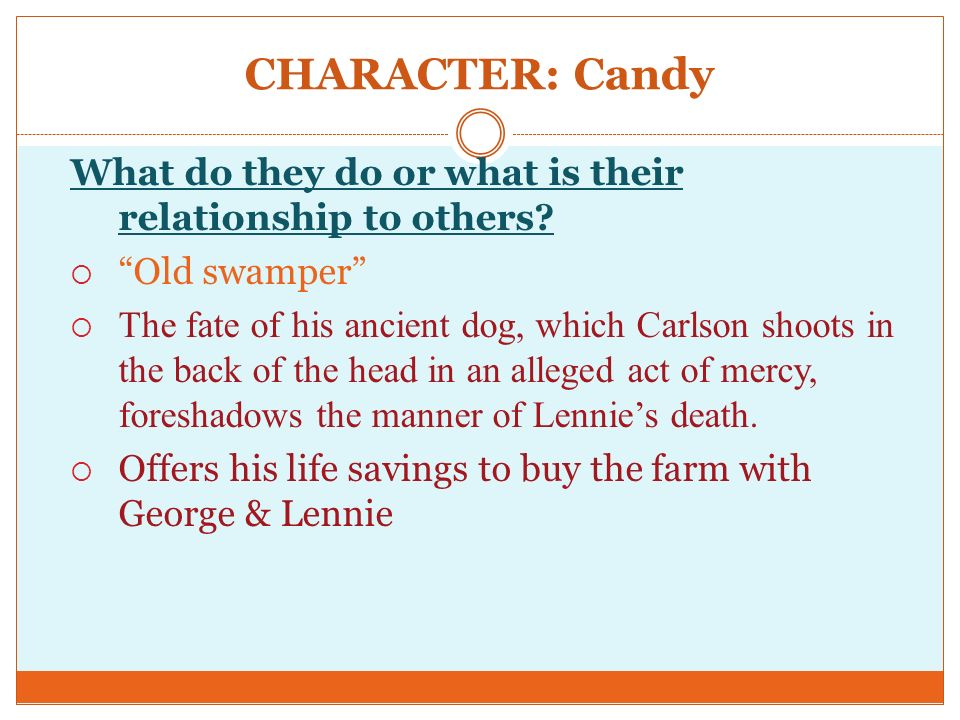 lennie and georges relationship quizzes