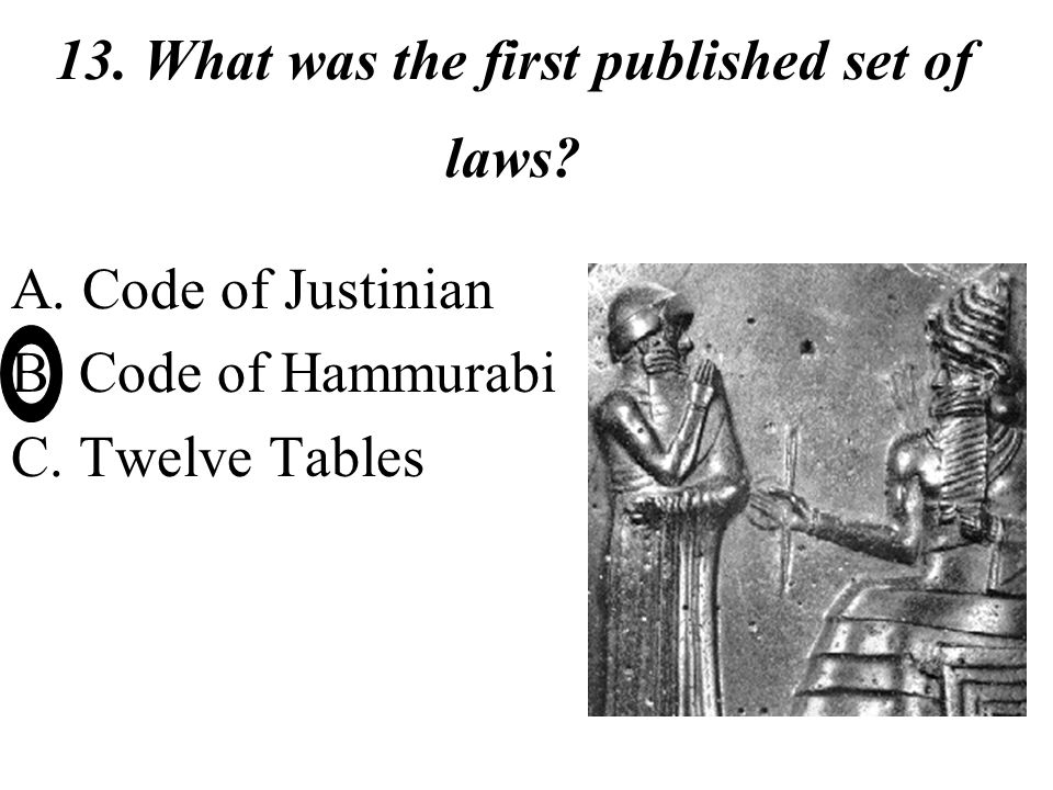 hammurabi code twelve tables The twelve tables vs hammurabi codein this academic year, we've studied  about different civilizations in ancient time our project aims t.