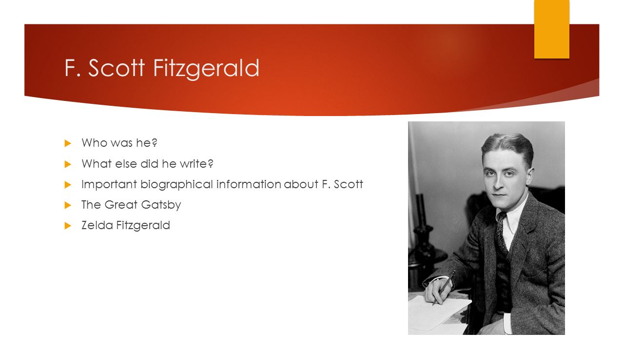 research paper f scott fitzgerald Liz is writing a research paper on how women are portrayed in the works of f scott fitzgerald which source could serve as a primary source for her paper - 2033296.