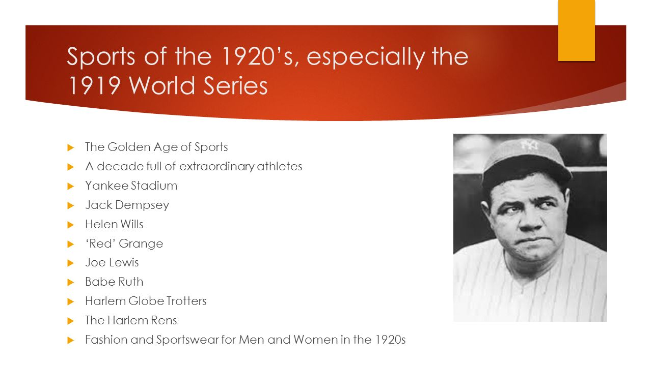 sports in the 1920s essay Free essay: world war 1 was a time filled with trauma, despair, and  prior to the  roaring twenties, only upper-class women had participated in sports.