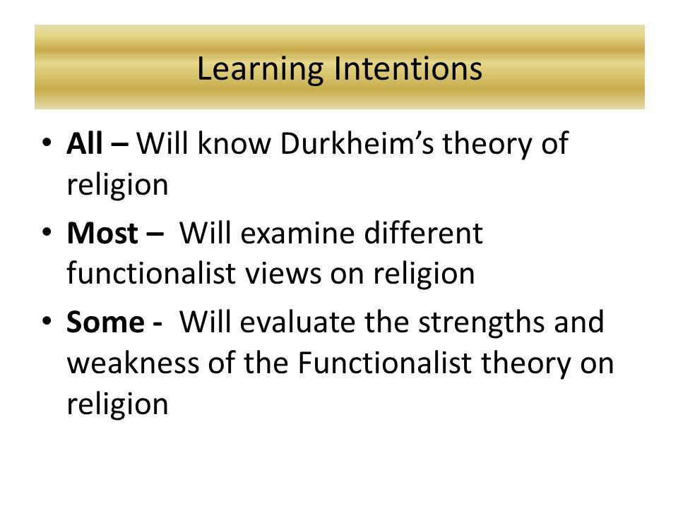 Durkheim Theory