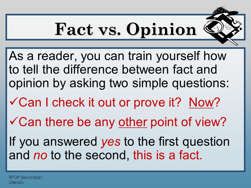 This packet contains 54 cards with a fact or opinion on them. Have ...