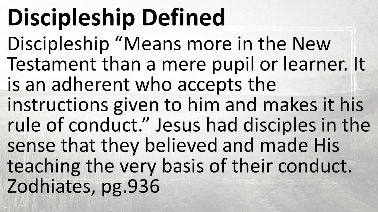 Marvelous 3 Discipleship Defined Discipleship U201c ...