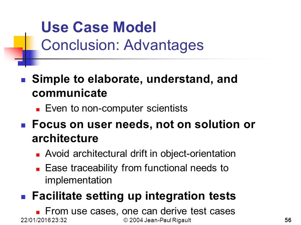 use case modelling importance in object Packages are used to organize the model groups model elements into a name space often represented in tool browser supports model configuration management (check-in/out) model can be.