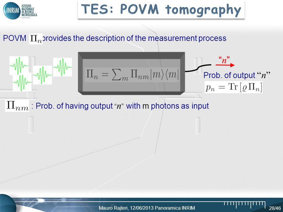 TES: POVM tomography n