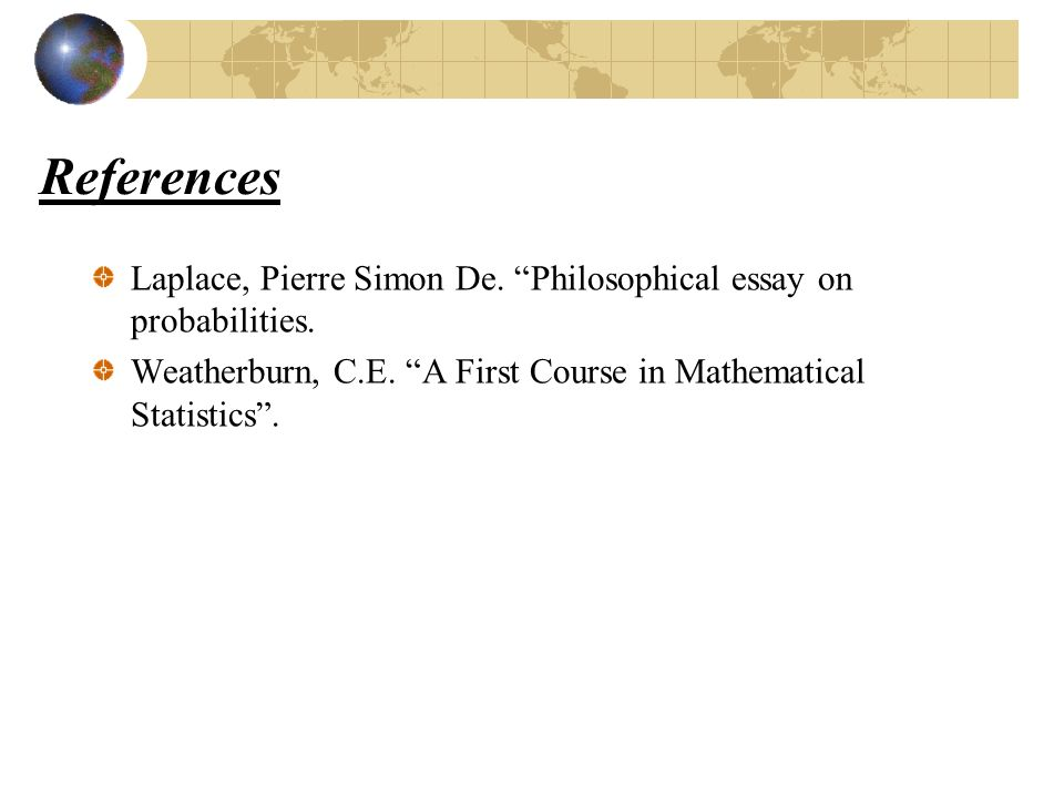 laplace pierre simon de ppt video online  references laplace pierre simon de philosophical essay on probabilities