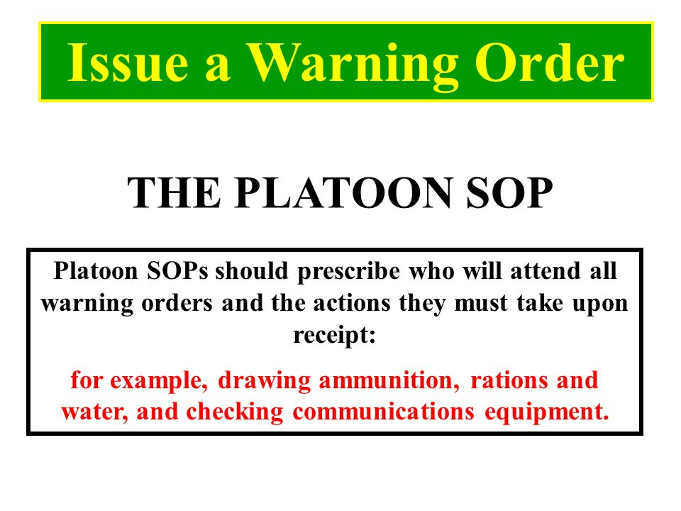 Beautiful 5 paragraph opord template photos example for Usmc warning order template