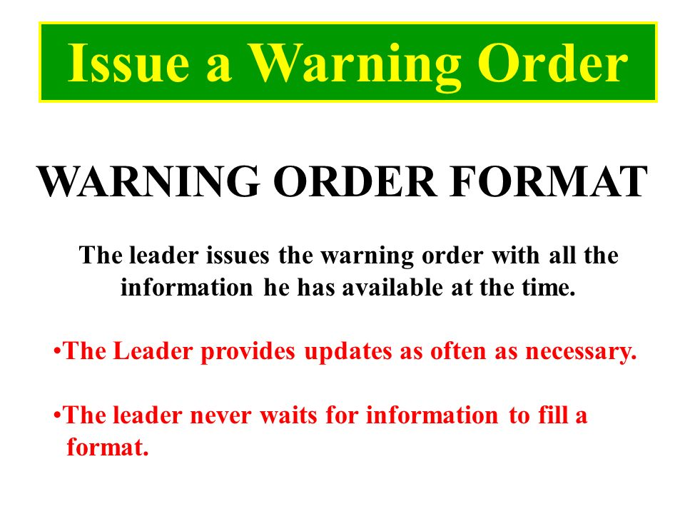 Delighted 5 paragraph order template images example for Usmc warning order template