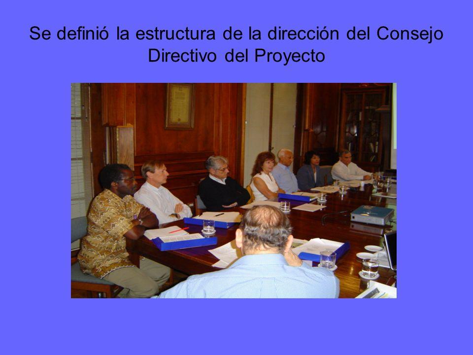 Se definió la estructura de la dirección del Consejo Directivo del Proyecto