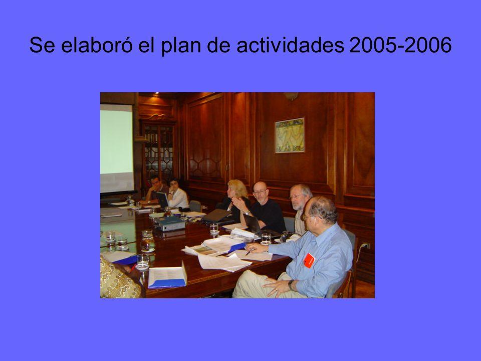 Se elaboró el plan de actividades 2005-2006