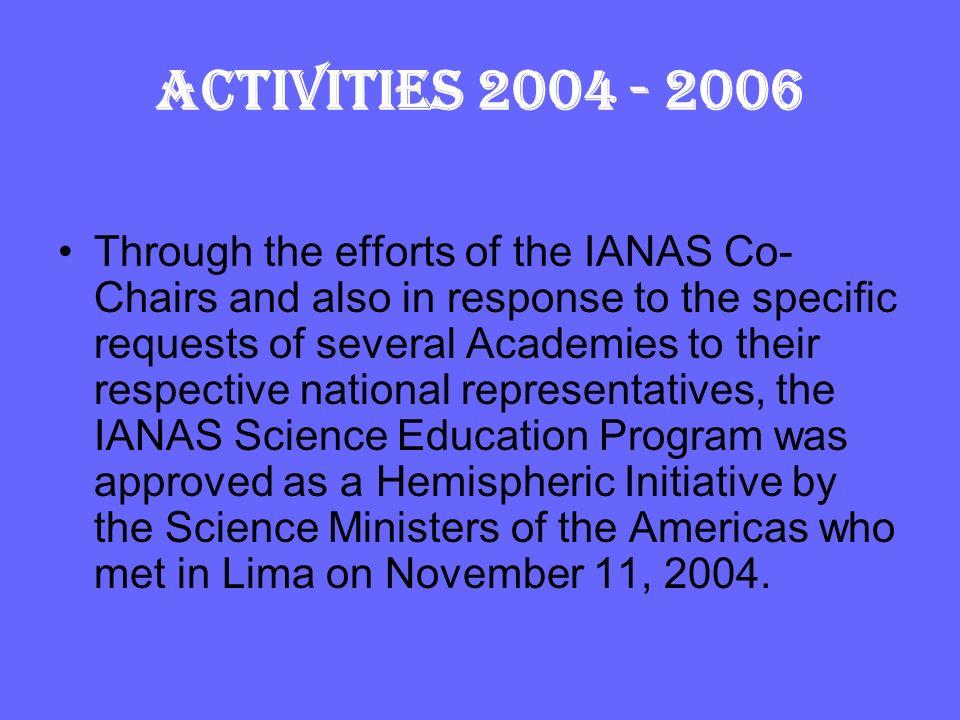 ACTIVITIES 2004 - 2006