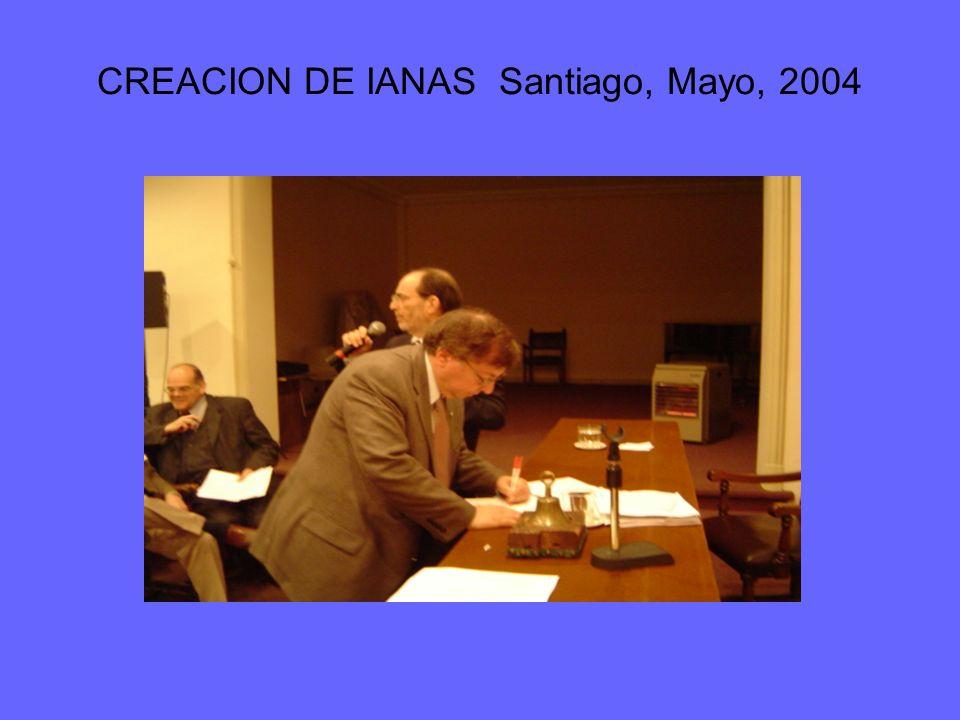 CREACION DE IANAS Santiago, Mayo, 2004