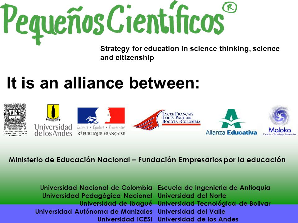 It is an alliance between: