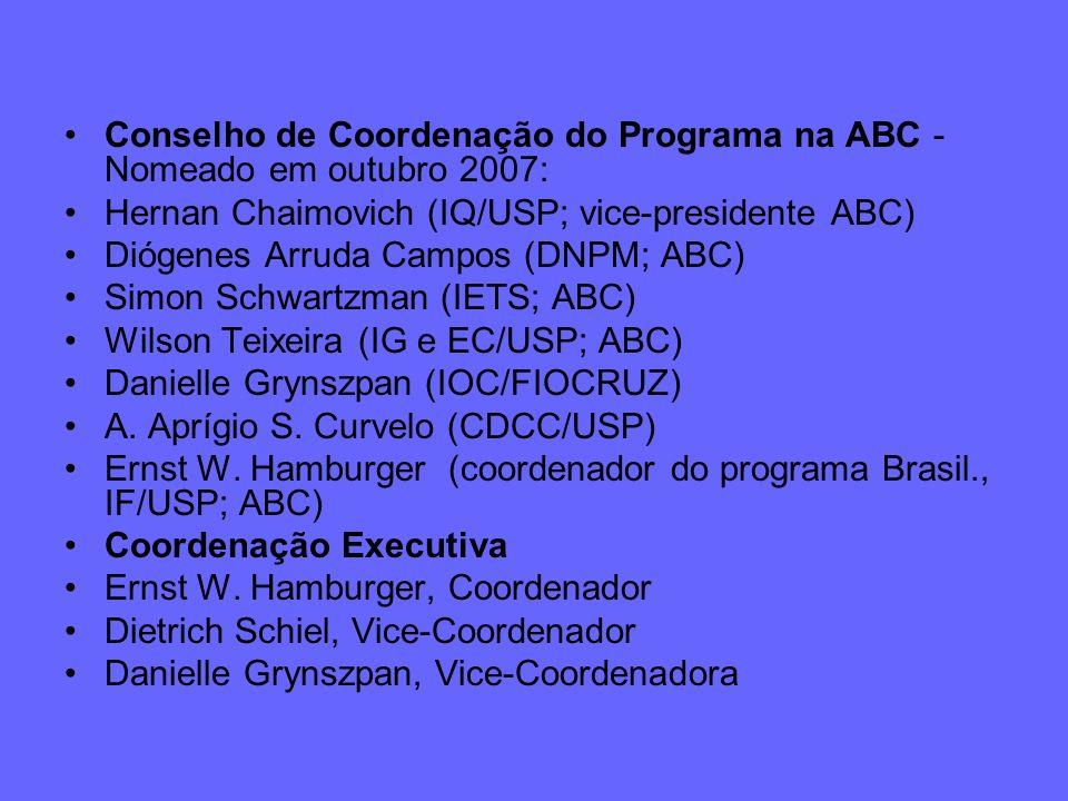 Conselho de Coordenação do Programa na ABC - Nomeado em outubro 2007: