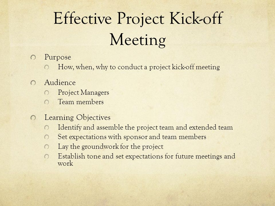 Effective project kick off meeting ppt video online download effective project kick off meeting stopboris Choice Image