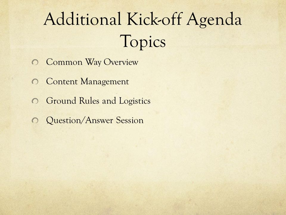 Common Meeting Ground Rules Switchsecuritycompanies