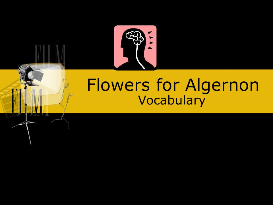 flowers for algernon vocabulary ppt video online  1 flowers for algernon vocabulary