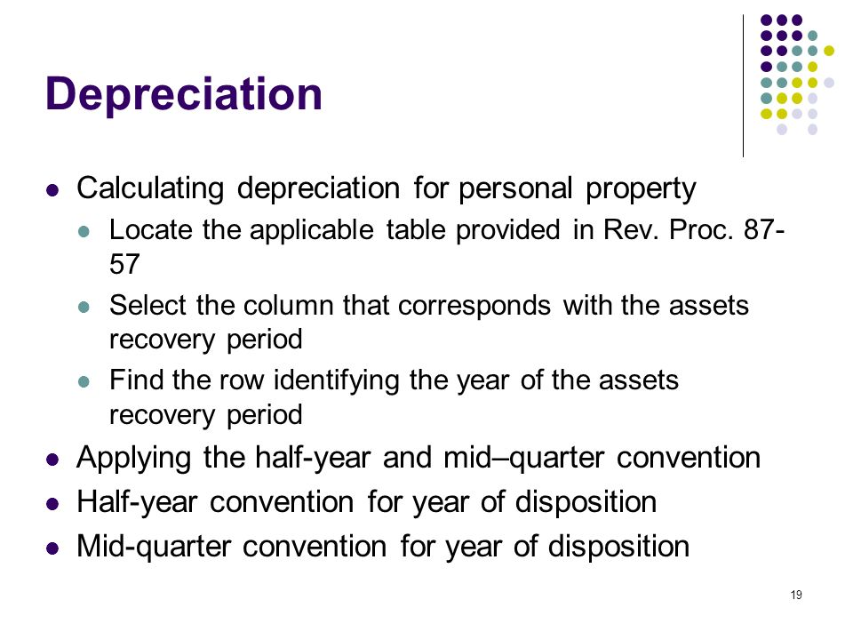 depreciation and cost The cost index and depreciation schedules is for use in the valuation of business personal property located in north carolina.