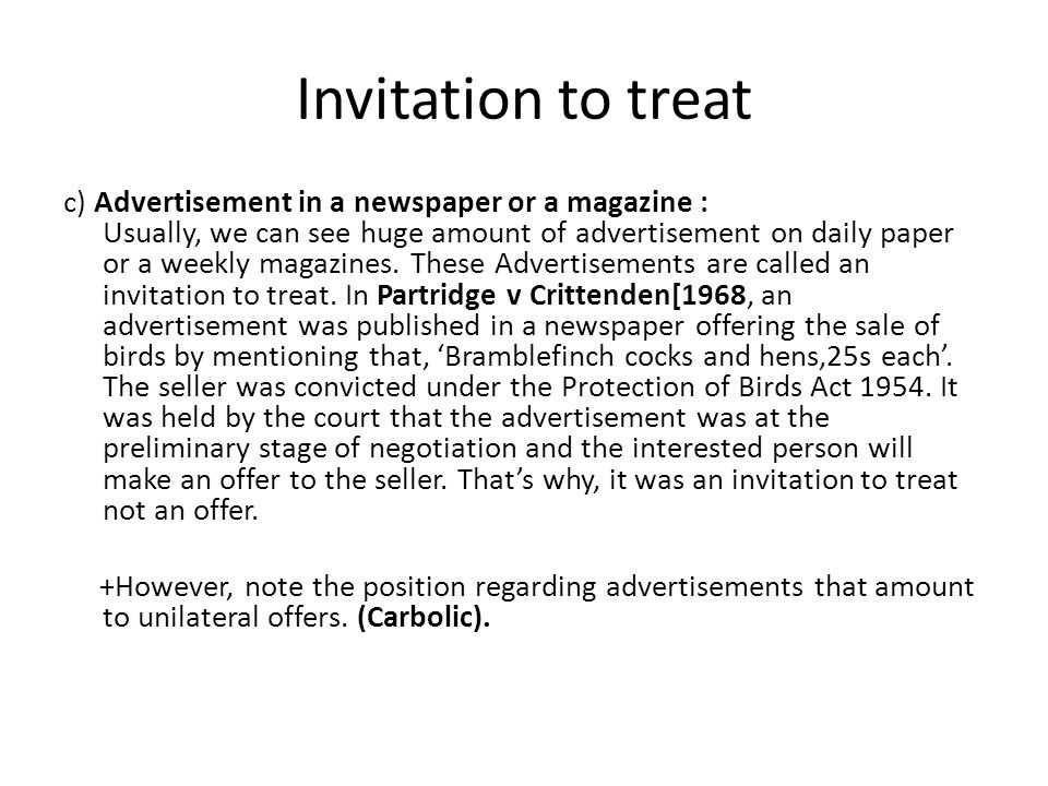 Difference between offer and invitation to treat essay