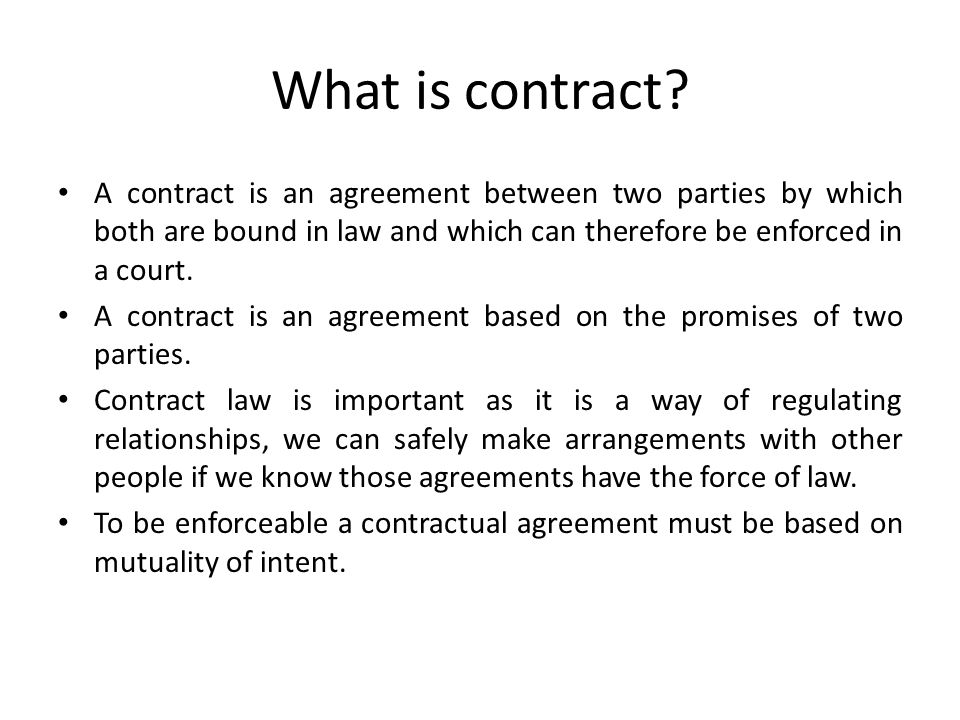 Gulay Suleymanoglu LLBHons LLMInternational and European – Contract Between Two People
