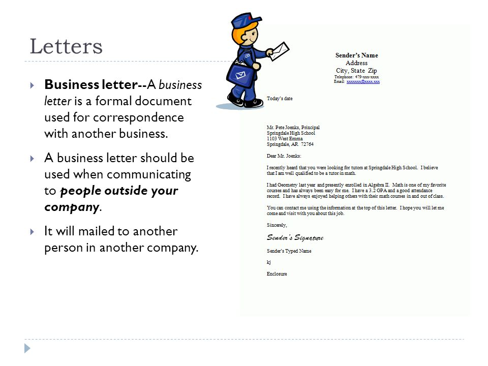 Business letters memorandums ppt video online download 2 letters thecheapjerseys Images