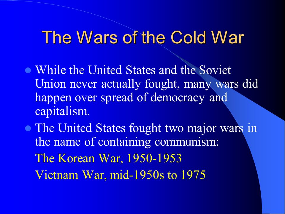 The Wars of the Cold War