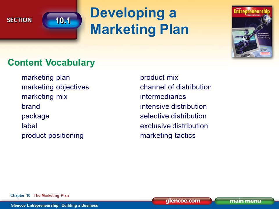 Product mix objectives