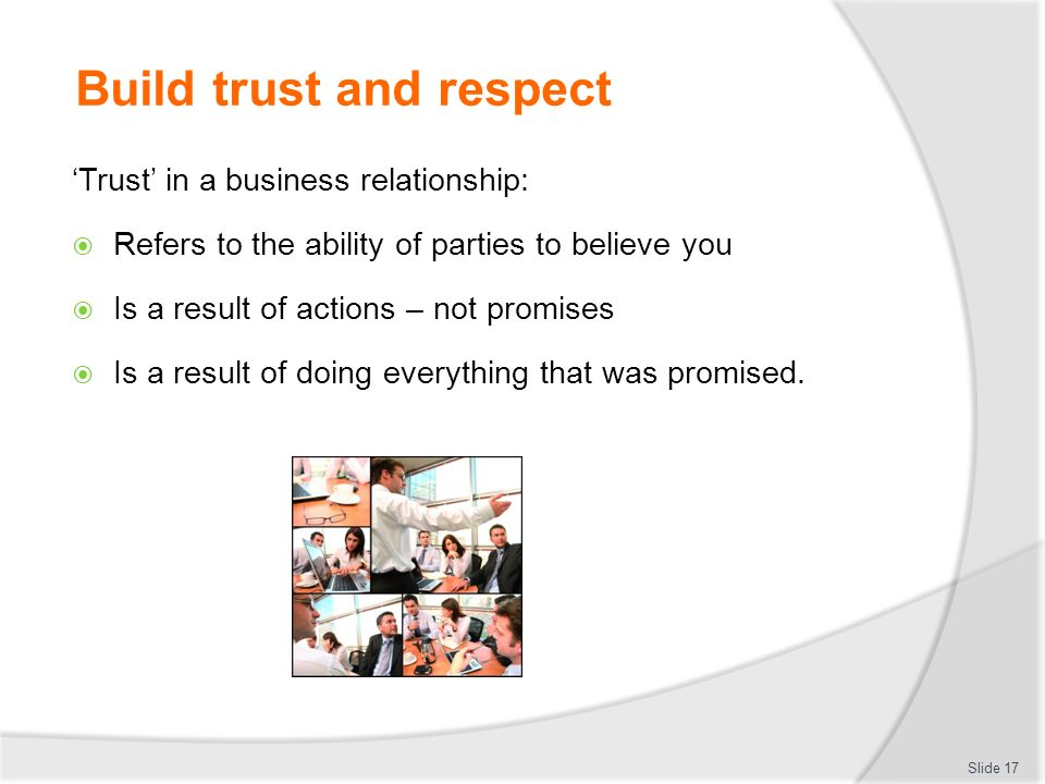 how to build trust and respect at work