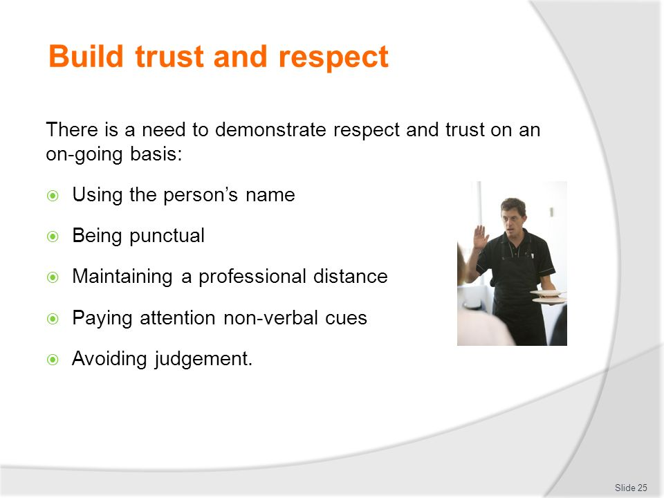 how to establish respectful professional relationships with adults Professional relationships with young people free statement of participation on completion course description course 1 professional and/or helping relationships.