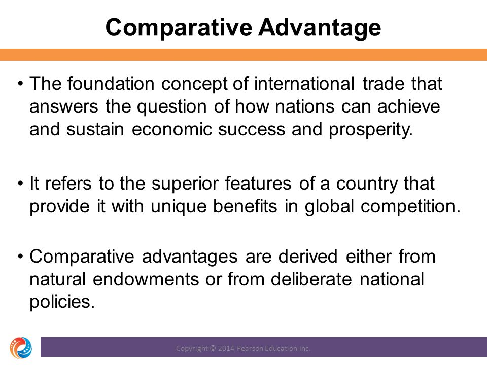 comparative advantage concept and benefits of Comparative advantage is a dynamic concept meaning that it changes over time.